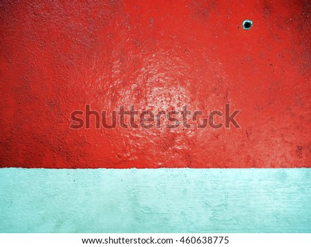 Red and white diagonal grunge paint