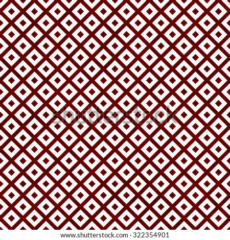 Red and White Diagonal Squares Tiles Pattern Repeat Background that is seamless and repeats - stock photo