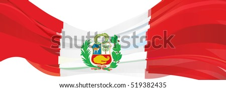 red-and-white flag of the Republic of Peru