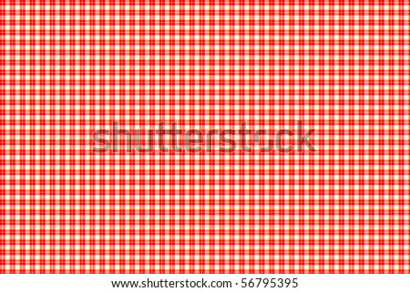 Red and white gingham - seamless texture - stock photo