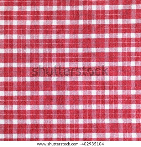 Red And White Gingham Tablecloth Pattern Background Texture