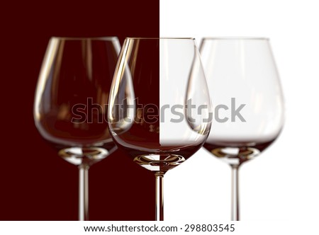 Red and white glass - stock photo
