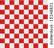 Red And White Glossy Checkered Seamless Tiles, See Vector Tiles In My Portfolio - stock photo