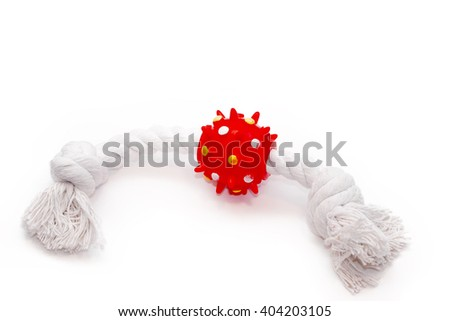 Red and white Pet toy
