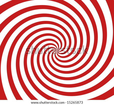 red and white spiral background - stock photo