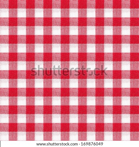 red and white tablecloth italian style texture wallpaper - stock photo