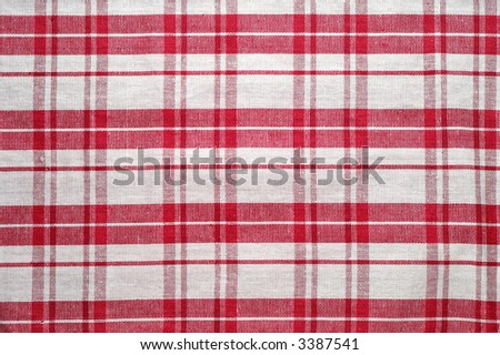 Red and white tablecloth pattern (3) - stock photo