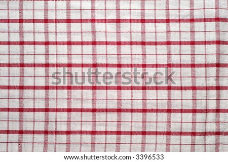 Red and white tablecloth pattern (2) - stock photo