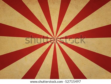 Red and Yellow Old Aged Starbust Abstract Background Wallpaper - stock photo
