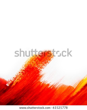 Red and Yellow Water Color Paint Texture - stock photo