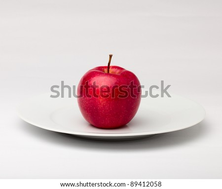 Red apple. - stock photo