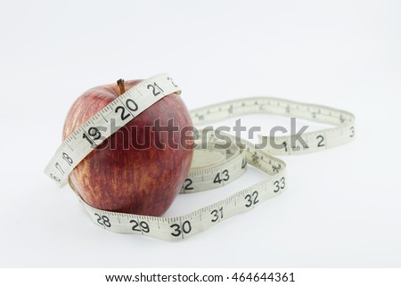 Red Apple and Tape Measure