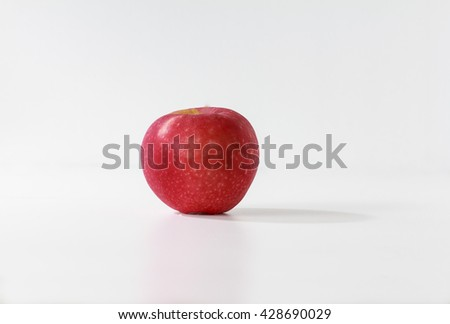 red apple isolate background - stock photo