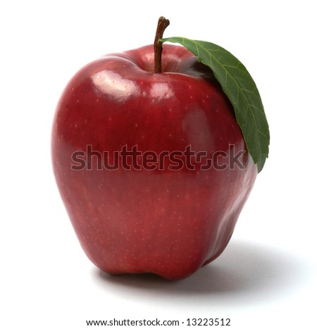 Red apple, isolated - stock photo