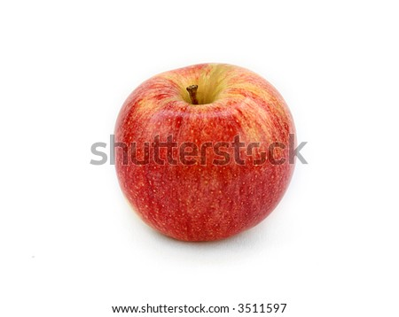 Red Apple isolated in white