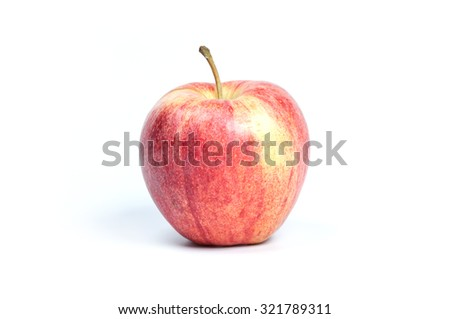 Red apple isolated on white background - stock photo
