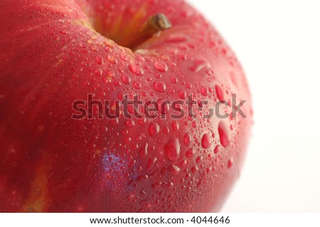 Red apple macro