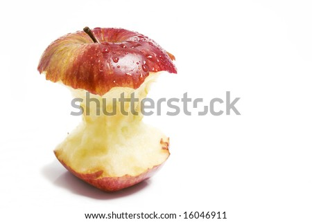 red apple stump