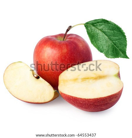 red apples + Clipping Path - stock photo