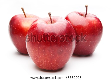 red apples, isolated - stock photo