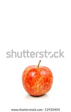 Red apples isolated against a white background