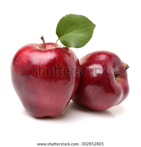 Red apples isolated on white background - stock photo