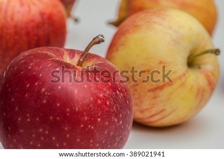 red apples on a table - stock photo