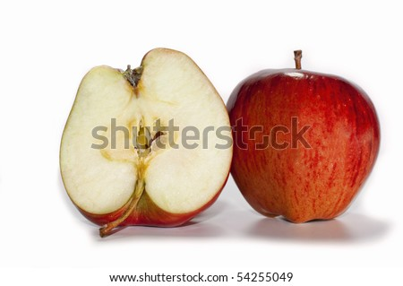 red apples on white background - stock photo