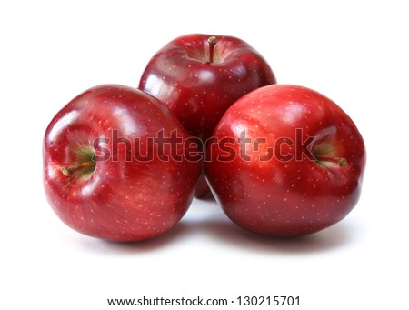 red apples over white background - stock photo