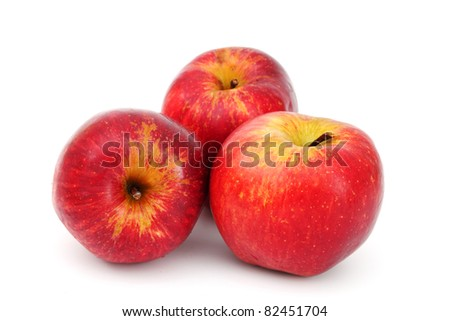 red apples pile - stock photo