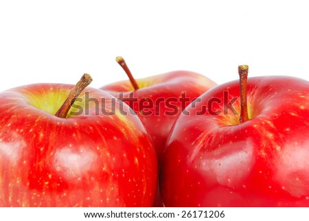 Red apples with space for text on top