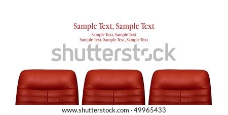 red arm-chair - stock photo