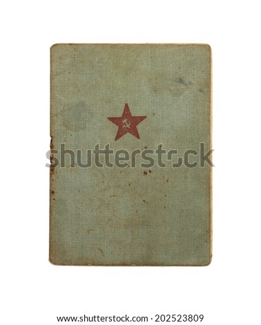 Red Army soldier`s ID book. 1940 - stock photo