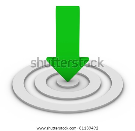 red arrow and white target - stock photo