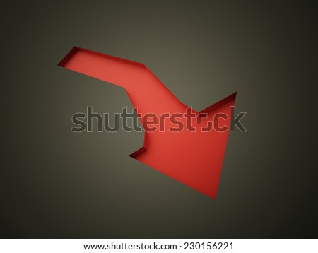 Red arrow business concept rendered  - stock photo