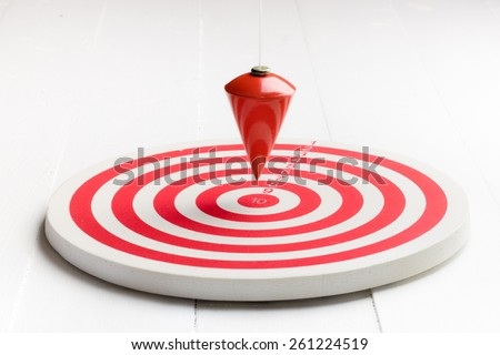 Red arrow point to target, business concept - stock photo