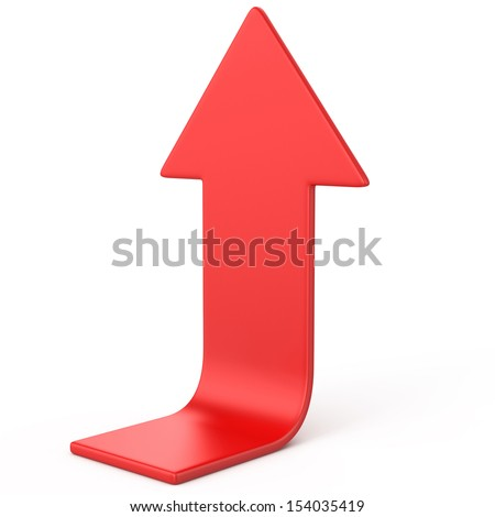 Red arrow up  - stock photo