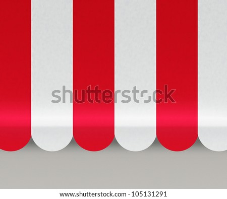 Red Awnings Background - stock photo