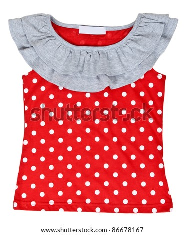 red baby clothes on a white background