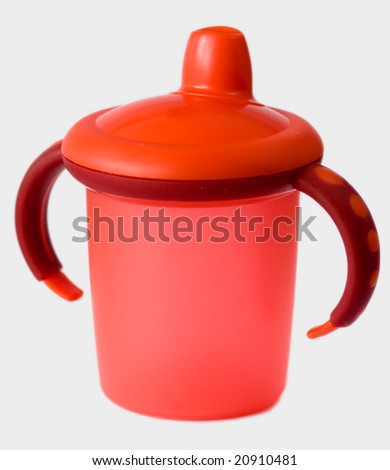 red baby sip cup - stock photo