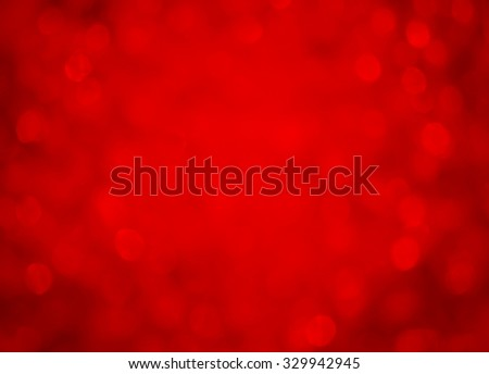 Red background bokeh effect - stock photo