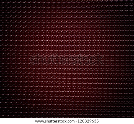 red background of hexagonal pattern texture - stock photo