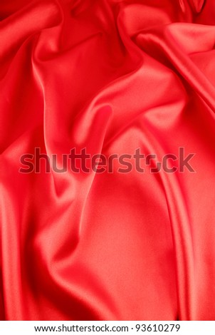 red background with a red satin - stock photo