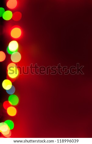 red background with bokeh lights - stock photo