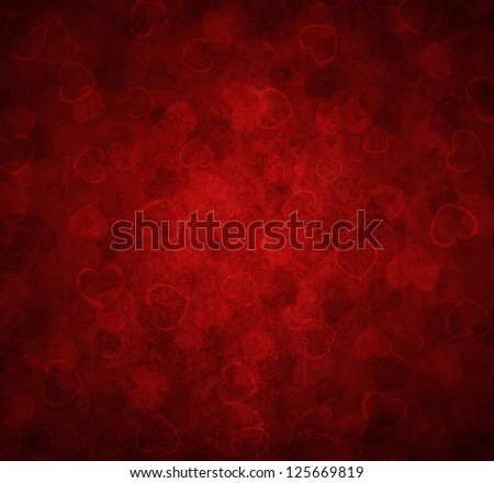 red background with hearts for Valentine's - stock photo