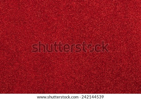 red background with shimmering glitte - stock photo