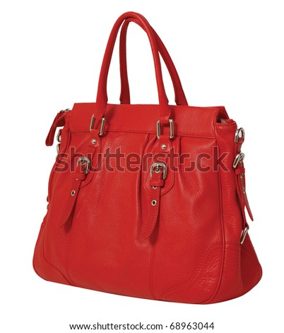 red bag - stock photo