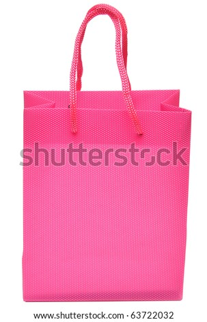 red bag for a retail shopping experience isolated on white background - stock photo