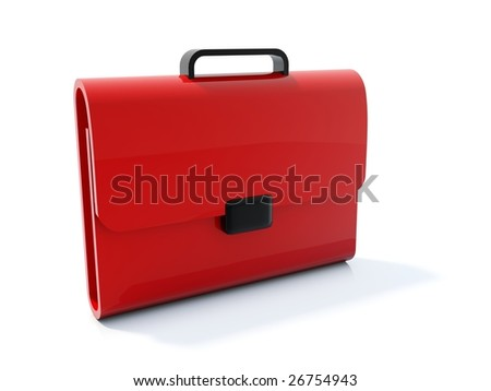 Red bag icon isolated on white