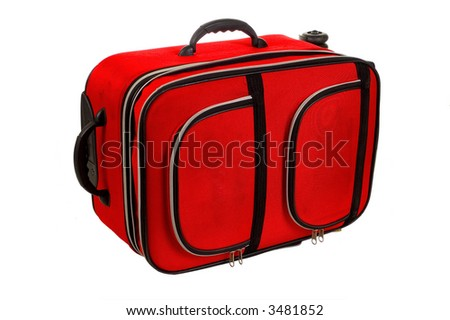 Red bag isolated in white background